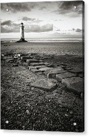 Point Of Ayre Lighthouse Acrylic Print by Jon Baxter