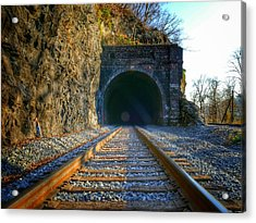 Point Of Rocks Train Tunnel Acrylic Print