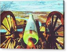 Point Park Cannon Acrylic Print by Steven Llorca