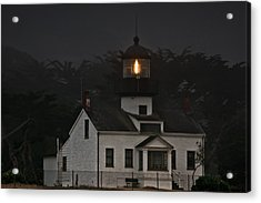 Point Pinos Lighthouse Ca Acrylic Print by Christine Till