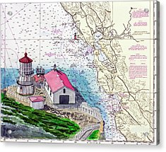 Point Reyes Light Station Acrylic Print by Mike Robles