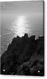 Acrylic Print featuring the photograph Point Reyes Seascape I Bw by David Gordon