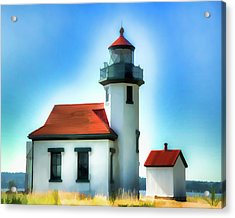 Point Robinson Lighthouse Acrylic Print by Greg Sigrist