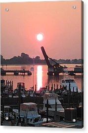 Point Sunrise Acrylic Print by Paul Barlo