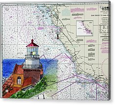 Point Sur Light Station Acrylic Print by Mike Robles