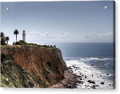 Point Vicente Lighthouse In Winter Acrylic Print by Heidi Smith