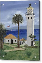 Point Vicente Lighthouse Acrylic Print by Jamie Frier