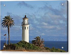 Point Vicente Lighthouse On The Cliffs Of Palos Verdes California Acrylic Print by Christine Till