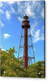 Acrylic Print featuring the digital art Point Ybel Lighthouse by Sharon Batdorf