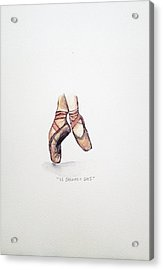 Pointe On Friday Acrylic Print by Venie Tee