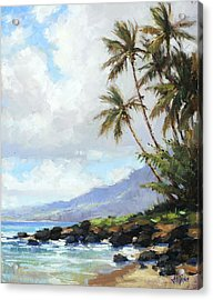 Poipu Palms Acrylic Print