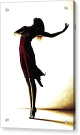 Poise In Silhouette Acrylic Print by Richard Young