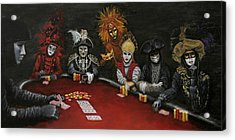 Acrylic Print featuring the painting Poker Face II by Jason Marsh