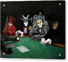 Acrylic Print featuring the painting Poker Face by Jason Marsh
