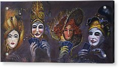 Poker Face Acrylic Print by Nik Helbig