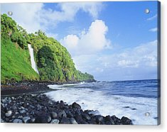 Pokupupu Point Acrylic Print by Peter French - Printscapes