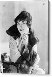 Pola Negri 1899-1987, Polish Silent Acrylic Print by Everett