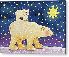 Polar Back Ride Acrylic Print by Cathy Baxter