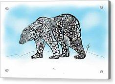 Polar Bear Doodle Acrylic Print
