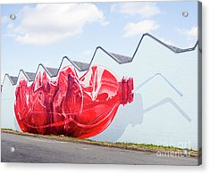 Acrylic Print featuring the photograph Polar Bear In A Coke Bottle by Chris Dutton