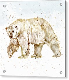 Polar Bear Watercolor Acrylic Print