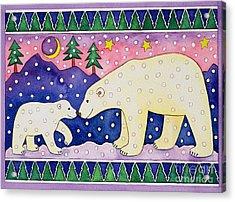 Polar Bears Acrylic Print by Cathy Baxter