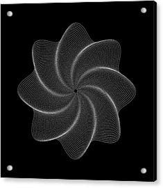 Polar Flower Viiik Acrylic Print by Robert Krawczyk