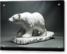 Polar King Acrylic Print by Leslie Dycke