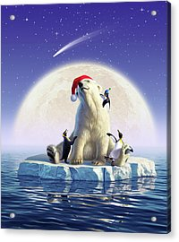 Polar Season Greetings Acrylic Print