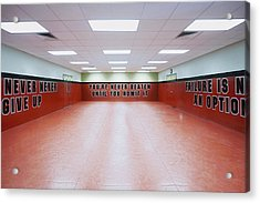 Police Academy Defense Tactics Training Room Acrylic Print