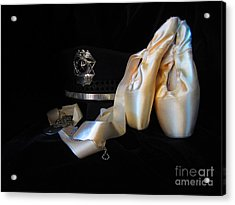 Police, Military, And Pointe Shoes Acrylic Print by Laurianna Taylor