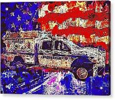 Police Truck Acrylic Print