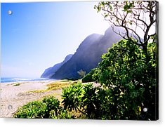 Polihale Morning Acrylic Print by Kevin Smith