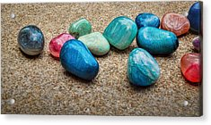 Acrylic Print featuring the photograph Polished Stones - Photography by Ann Powell