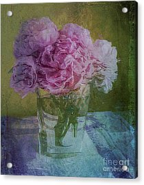 Polite Peonies Acrylic Print by Alexis Rotella