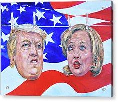 Political Hangups Acrylic Print by Steven Boone