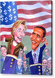 Political Puppets Acrylic Print by Ken Meyer jr