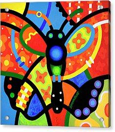 Kaleidoscope Butterfly Acrylic Print