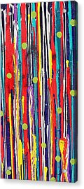 Acrylic Print featuring the painting Polka Dot Pour by Carolyn Repka