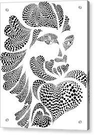 Polkadot Lover Original Acrylic Print by Hye Ja Billie