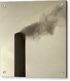 Pollution Acrylic Print by Wim Lanclus