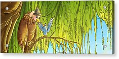 Polly And Her Friend, Elfie Acrylic Print by Reynold Jay