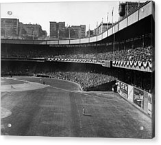 Polo Grounds, During The First Game Acrylic Print by Everett