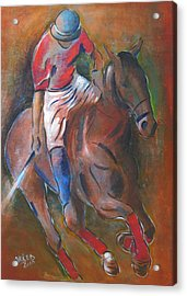Polo Player Acrylic Print by Vered Thalmeier