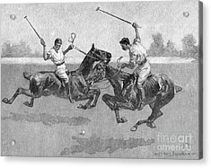 Polo Players Acrylic Print