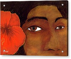 Polynesian Girl #67 Acrylic Print by Donald k Hall