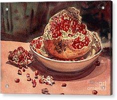 Pomegranate Acrylic Print by Donald Maier