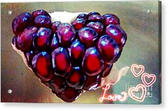Acrylic Print featuring the digital art Pomegranate Heart by Genevieve Esson