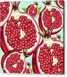 Pomegranate   Acrylic Print by Mark Ashkenazi