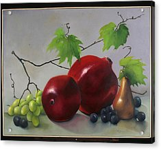 Pomegranate Acrylic Print by Martha Zausmer paul